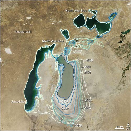 Aral Sea 2000-2008