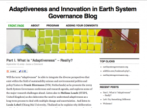 Adaptiveness and Innovation in Earth System Governance