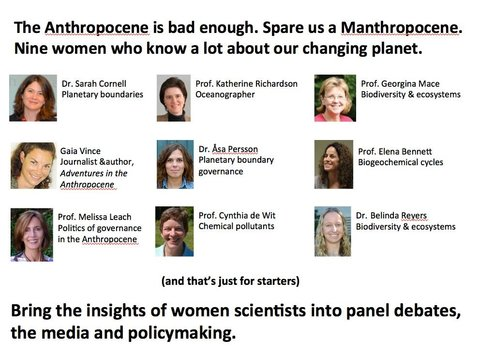 """Spare us a Manthropocene"""